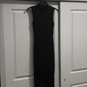 Adam Levine Black Ribbed Bodycon Sweater Dress